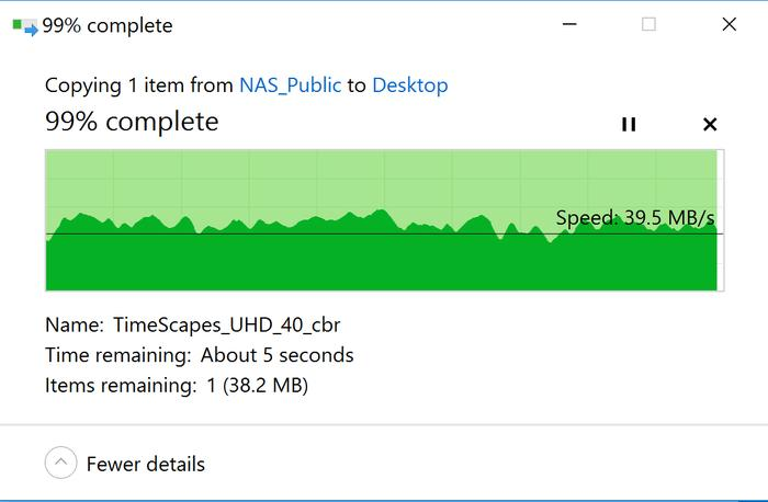 Transferring the 9.3GB movie TimeScapes 3 metres from the Taipan